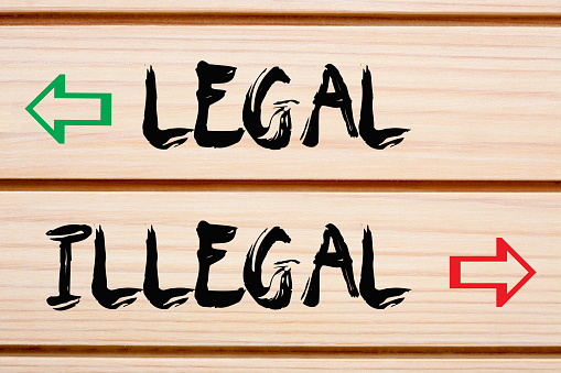 How to find difference between legal and illegal activities?
