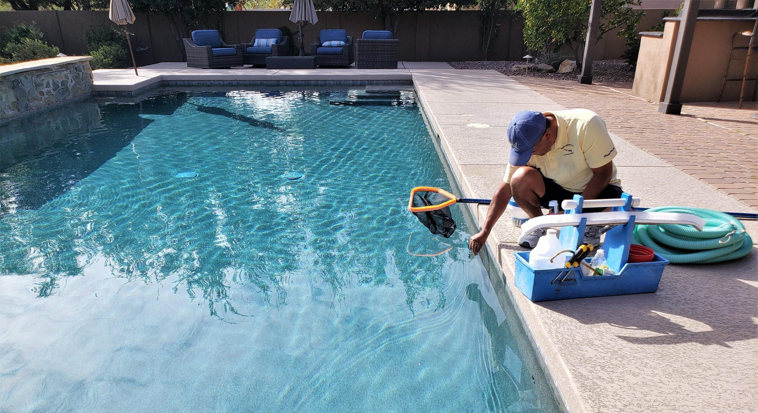 maintaining swimming pools